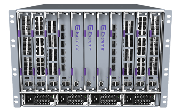 ExtremeSwitching Virtual Services Platform 8608 Chassis with 8 IOC Module Slots