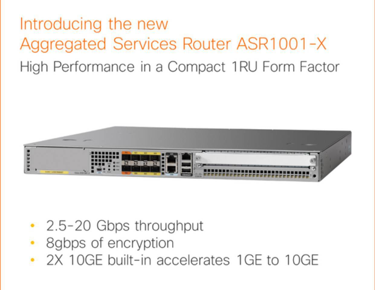 Router Cisco ASR1001-X